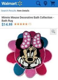 Minnie Mouse Bathroom Rug Disney Minnie Mouse Bath Rug 26 5 By 28 Inch Disney Minnie