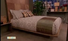 Making A Wooden Platform Bed by Video How To Make A Wooden Platform Bed Part 1 Martha Stewart