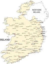 Ireland On Map Ireland Political Map