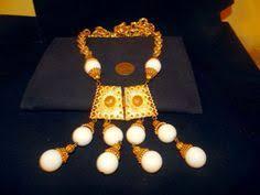 pauline rader necklace pauline rader runway signed revival breastplate pendant