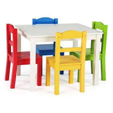 tot tutors table chair set modern wood tot tutors furniture the home depot