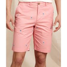 light pink shorts mens lyst tommy hilfiger hula print flat front shorts in pink for men