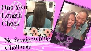 natural hair no heat challenge hair growth after 1 year of no heat youtube