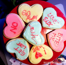 valentines day cookies do it your freaking self recipe anti valentines day cookies