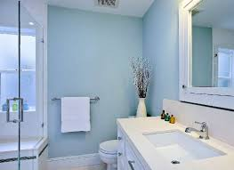 Pale Blue Paint Brightens Up Bathroom Bathrooms Bob Vilas - Blue bathroom design