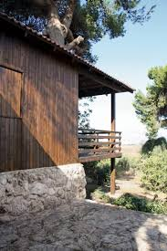 architecture stone material ideas applied in two tree house