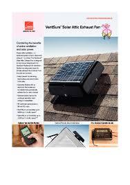 ventsure solar attic exhaust fan owens corning roofing
