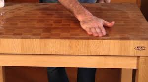 how to maintain a chopping block or end grain butcher block top how to maintain a chopping block or end grain butcher block top youtube