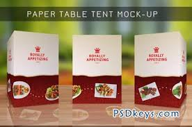 Table Tents Template Table Tent Mock Up Template Vol 8 3868 Free Download Photoshop