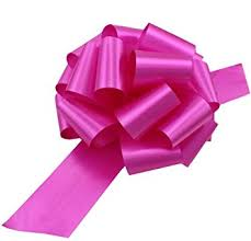 large pink fuchsia pull bows 9 wide set of 6