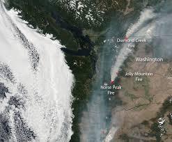 Wildfire News Eastern Washington by Nasa Sees Washington State
