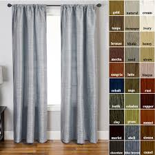 Long Curtains 120 Champagne Gold Curtains Faux Silk Solid Striated Texture