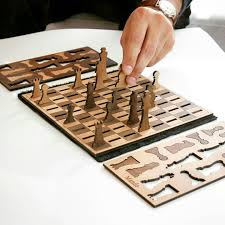 minimalist wooden chess set unique gift idea for christmas wood