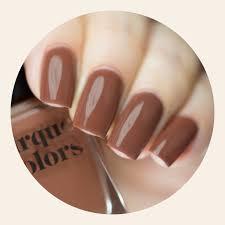 light brown nail polish brown creme nail polish cirque colors coffee talk