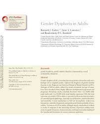 gender dysphoria in adults pdf download available