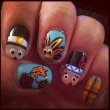 get festive and try some thanksgiving nail art