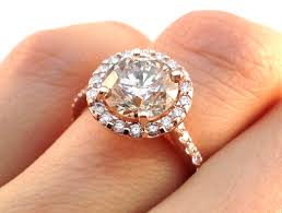 about diamond rings images European engagement ring rose gold champagne round diamond halo jpg