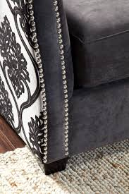 Gray Nailhead Sofa Bedroomdiscounters Designer Sofas