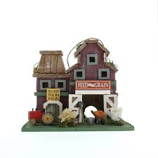 wholesale rustic wood birdhouse country style feed store birdhouse