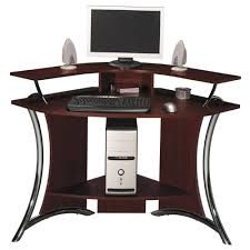 Corner Tower Desk Wood Computer Desk