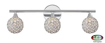bathroom light fixture chrome quoizel pcsr8603cled platinum collection shimmer polished chrome led