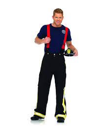 oversized halloween costumes adults 3pcfire captain includes pants with reflective trim tshirt and