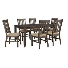 dresbar dining room table signature design by ashley dresbar cream table and four chairs set