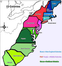 the thirteen colonies map 13 colonies map thinglink