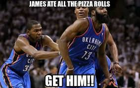 Pizza Rolls Meme - defensive player of the year russell westbrook has no idea what a