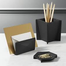 Modern Desk Supplies Shop Black Cast Desk Accessories Textured Matte Black Aluminum