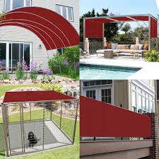 customize straight edge waterproof sun shade sail uvblocker patio