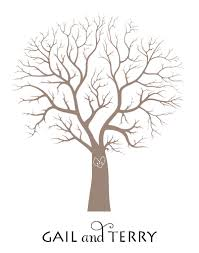 fingerprint tree wedding fingerprint tree diy pretty easy