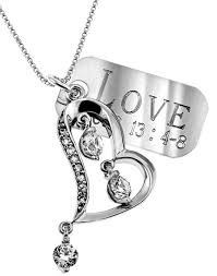 Custom Heart Necklace Personalized Scripture Necklaces With Charm