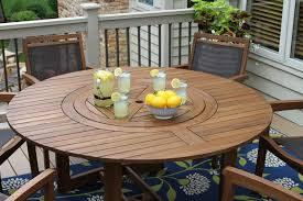 Lazy Susan For Outdoor Patio Table by Plantation Grown Brazilian Eucalyptus Hardwood Furniture