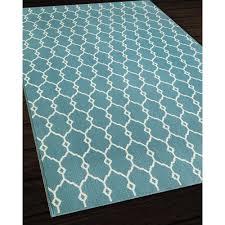 indoor outdoor blue trellis rug 7 u002710 x 10 u002710 graphic patterns