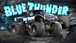 monster trucks jam blue thunder monster truck monster trucks pinterest monster