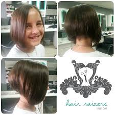 cutting a beveled bob hair style undercut stacked inverted bob kids haircut http