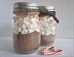 diy cocoa mason jars and homemade cookies be festive