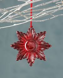 baccarat 2014 annual snowflake ornament