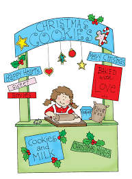 free dearie dolls digi stamps christmas cookie booth