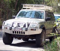 nissan safari lifted nissan patrol not a toyota landcruiser with a nissan logo