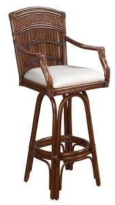 resin wicker bar stools furniture rattan bar stool with brown varnished bamboo back and