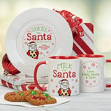 cookies for santa plate personalized christmas cookies milk for santa collection