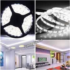 12v mains plug 300 led strip light under kitchen cabinet cupboard