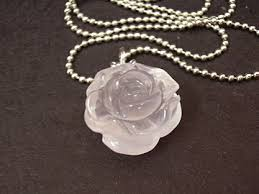 rose quartz rose necklace images Rose quartz peony pendant necklace at feng shui bestbuy JPG