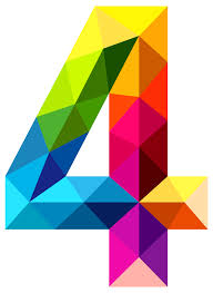 gallery clipart colourful triangles number four png clipart image gallery