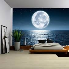 wall26 com art prints framed art canvas prints greeting wall26 full moon rising over the ocean empty at night with copy space removable wall mural self adhesive large wallpaper 100x144 inches