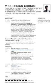 Scientific Resume Examples by Undergraduate Research Assistant Resume Samples Visualcv Resume