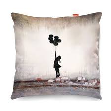 banksy home decor banksy balloons sofa cushion modern cushions by kico