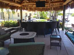 Tiki Outdoor Furniture by Tiki Hut Outdoor Kitchen And Landscaping Tropical Pool